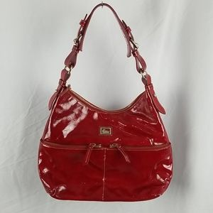 Dooney Bourke Patent Red Leather Purse